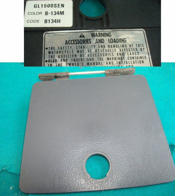88 to '00 LID, SHELTER  83131-MN5-000ZE Fuel lid in SE gray EXCELLENT (for B134-M B134H color) GL1500