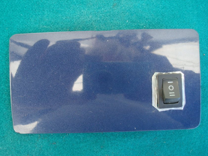 88 89 83129-MN5-0100 Panel Blind Left  Dynastic Blue fairing lower shelter blank with toggle  GL1500