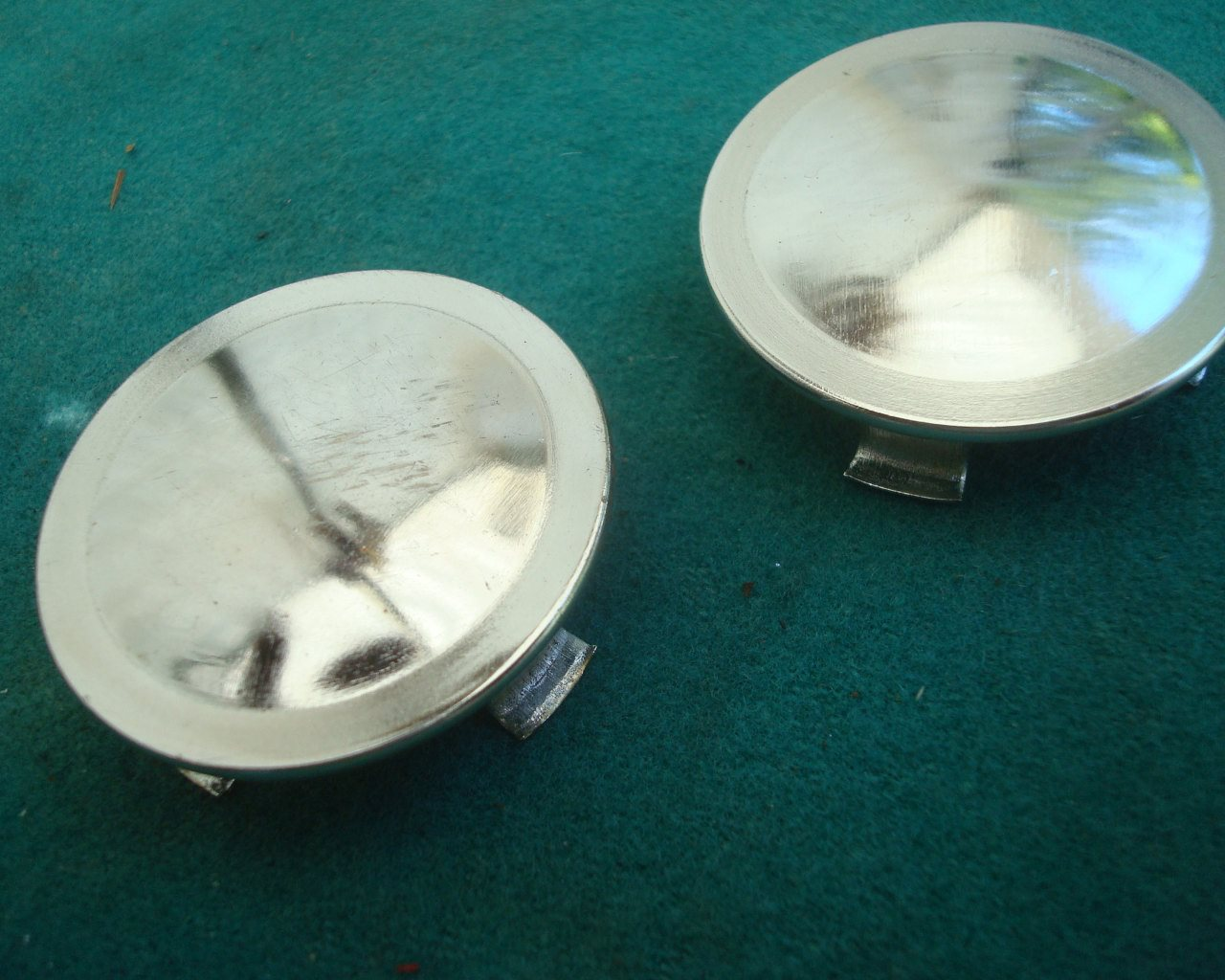 GL1100 or 1200 80 to 87 Swing arm caps, Chrome