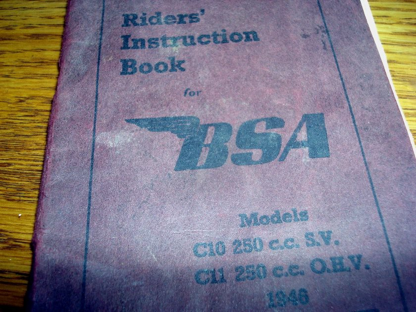 1948 Operators manual SV and OHV models C10 C11 250